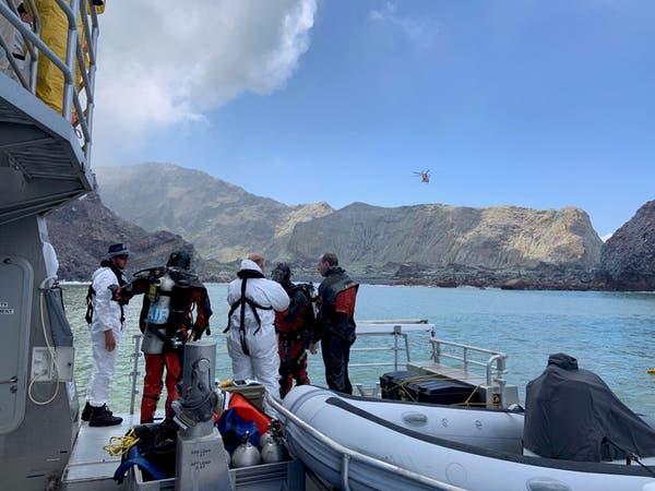 فرق الإنقاذ تفشل باستعادة جثث ضحايا ثوران بركان نيوزيلندا
