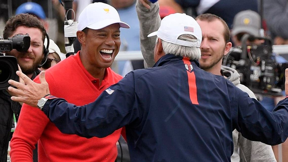 Tiger Woods set the Presidents Cup record for most victories and set the tone for another American victory. (Photo: AP)
