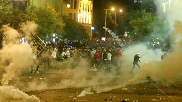 اشتباكات بين متظاهرين وقوات الأمن وسط بيروت