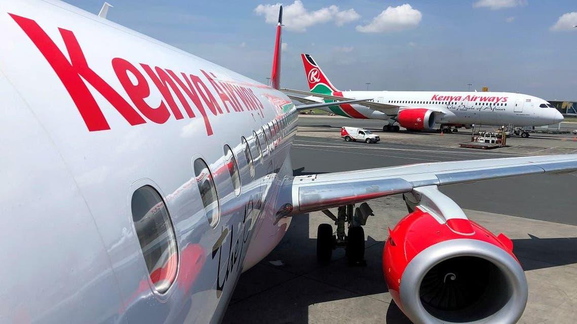 Kenya Airways planes are seen parked at the Jomo Kenyatta International Airport near Nairobi, Kenya November 6, 2019. (Reuters)