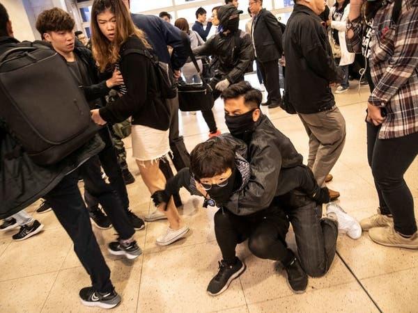 قبيل اجتماع هام.. احتجاجات واشتباكات بهونغ كونغ
