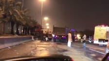 هذا ما حصل بعد حادث شاحنة وقود على دائري الرياض