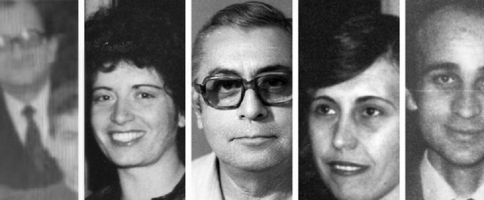 القتلى، من اليمين هاني زمار وماريا حنا مخايل وهرانت كوركودجيان وخاتون تيكيان وأفاديك بويادجيان