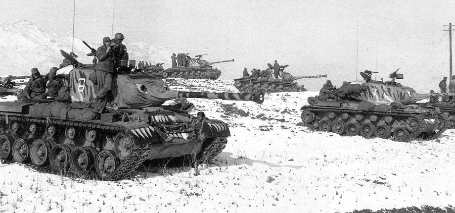 جانب من القوات الأميركية بالحرب الكورية