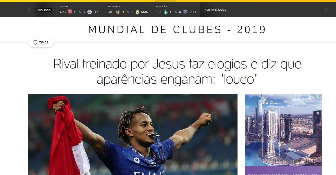 لقاء جيسوس مع الصحيفة البرازيلية