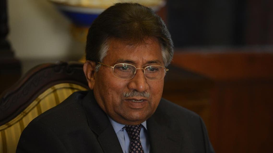 In this photograph taken on December 29, 2013, Pakistan's former military ruler Pervez Musharraf addresses foreign media representatives at his farmhouse in Islamabad. (File photo: AFP)