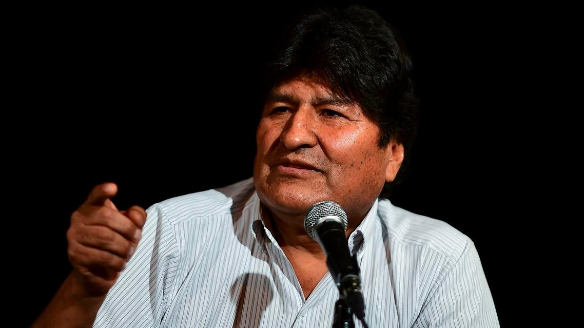 Bolivia's ex-President Evo Morales gestures during a press conference in Buenos Aires, on December 17, 2019. (AFP)