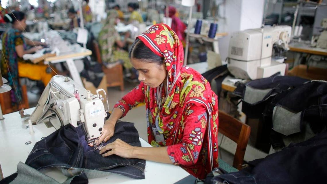 A woman works in a factory of in Savar, Bangladesh on June 10, 2014. (File photo: Reuters)