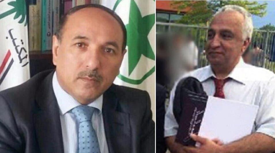 القتيلان الايرانيان، من اليمين محمد رضا كولاهي صمدي وأحمد ملا نيسي