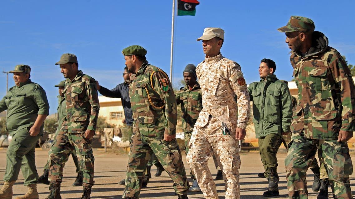 عناصر من الجيش الليبي (فرانس برس)