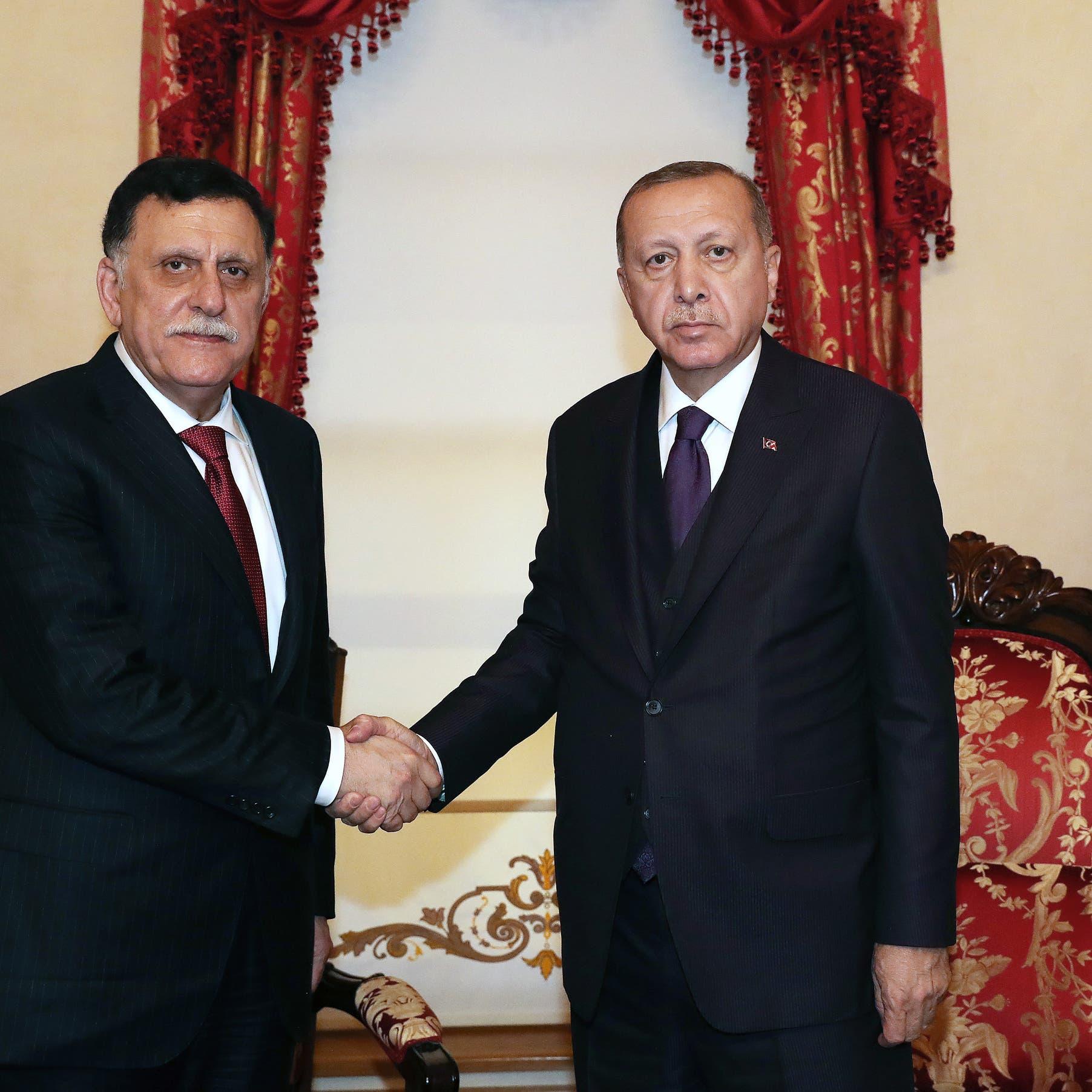 السراج وأردوغان يبحثان تنفيذ مذكرتَي التفاهم