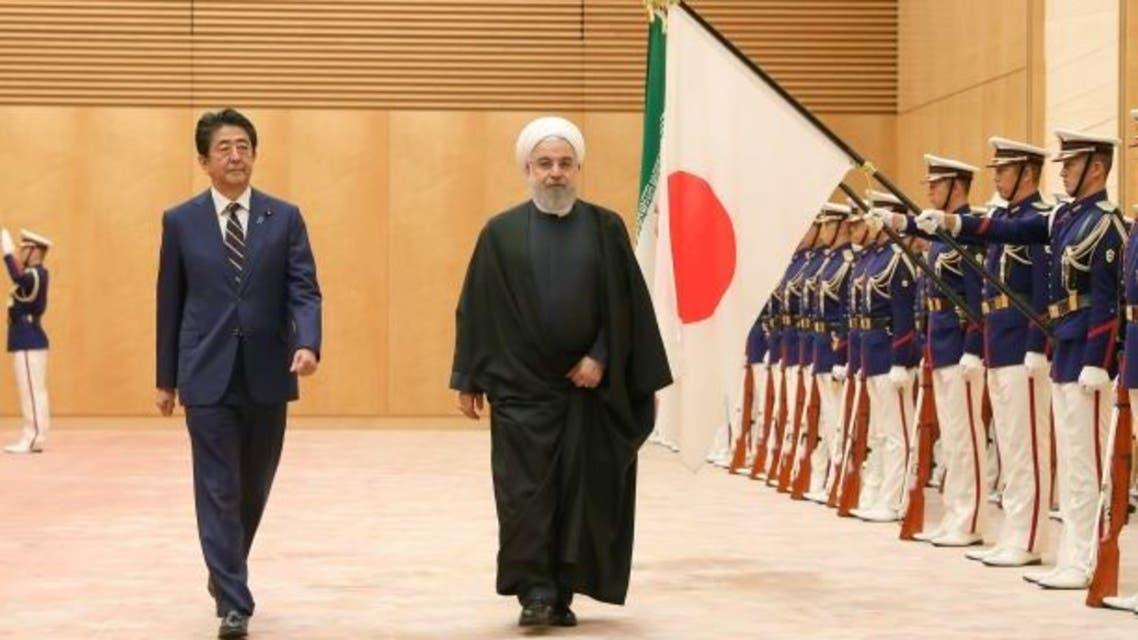 روحاني خلال زيارته اليابان