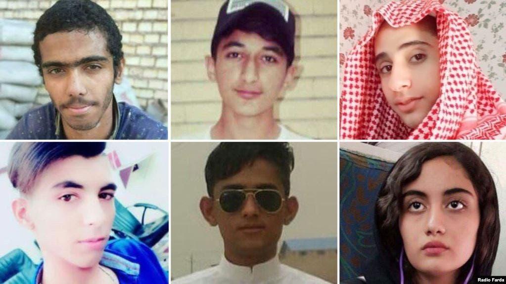 عدد من الأطفال الذين قتلوا اثناء احتجاجات ايران