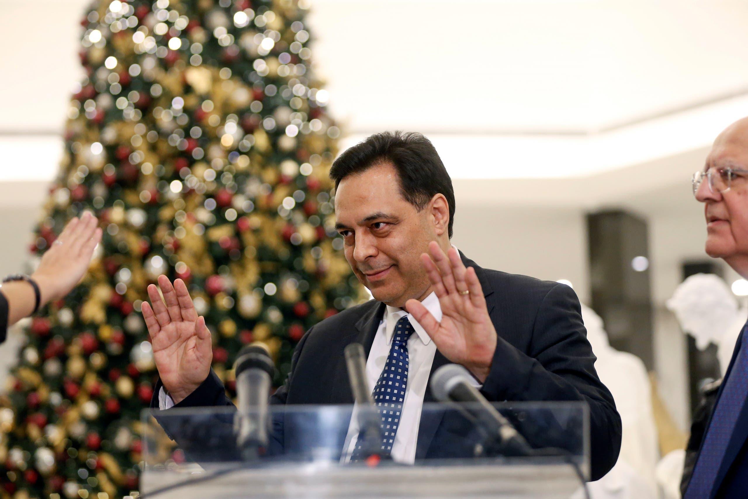 رئيس الحكومة اللبنانية المكلف حسان دياب(رويترز)