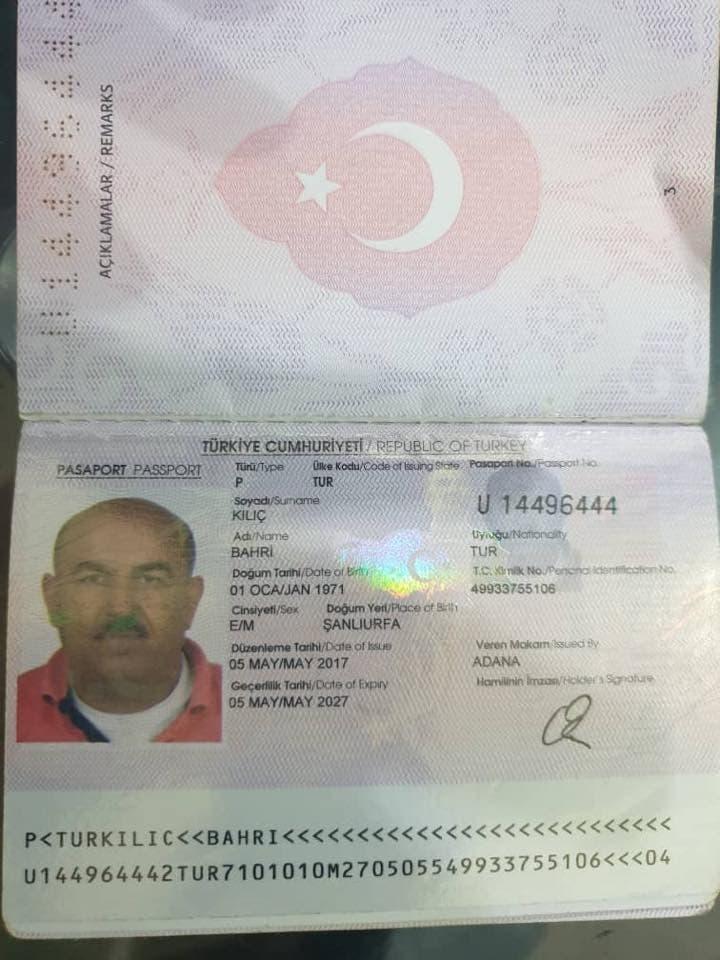 من أفراد الطاقم التركي