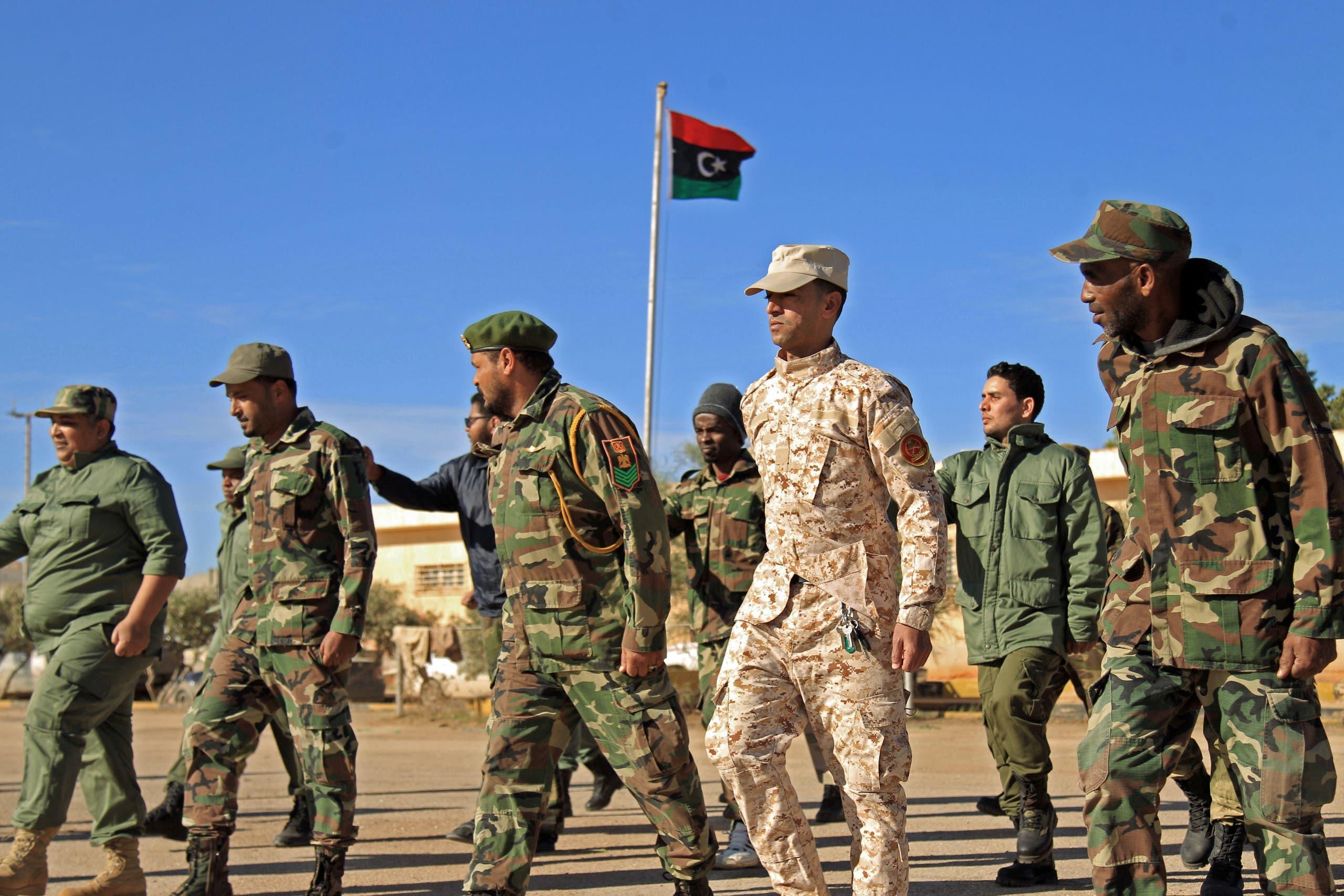 عناصر من الجيش الليبي