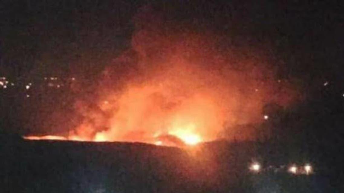 مطار-المزة-قصف-من-الطائرات-الإسرائيلية