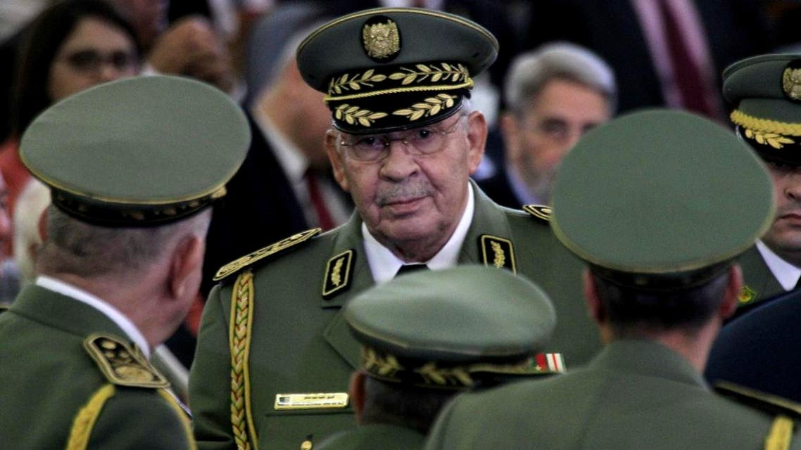 In this photo taken Thursday, Dec. 19, 2019, Algerian military chief Ahmed Gaed Salah attends president Abdelmajid Tebboune's inauguration ceremony. (Photo: AP)