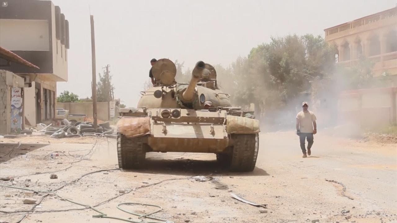 آلية عسكرية تابعة للجيش الليبي