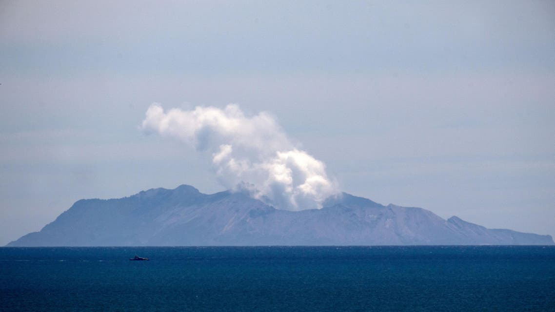 Steam rises from the White Island volcano following the December 9 volcanic eruption, in Whakatane on December 11, 2019. (AFP)