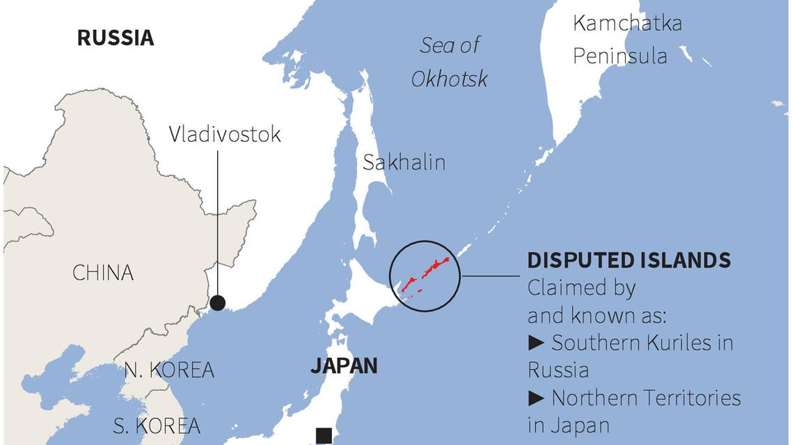 Reissue. Map of islands disputed by Japan and Russia. (File photo: Reuters)