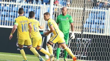 حمدالله يحبط مفاجأة ضمك ويقود النصر للدور ربع النهائي