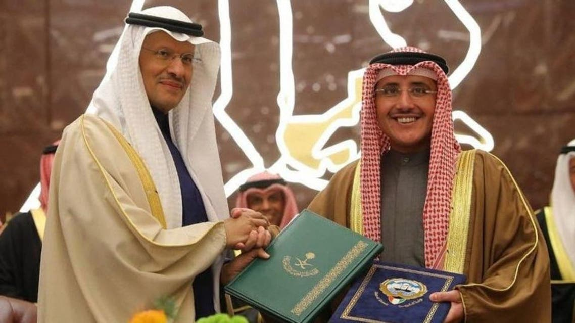 The agreement on the Neutral Zone was signed in Kuwait by Prince Abdulaziz bin Salman, Saudi Arabia's Minister of Energy, and Sheikh Dr. Ahmed Nasser al-Mohammed, Kuwaiti Foreign Minister. (Courtesy: SPA)