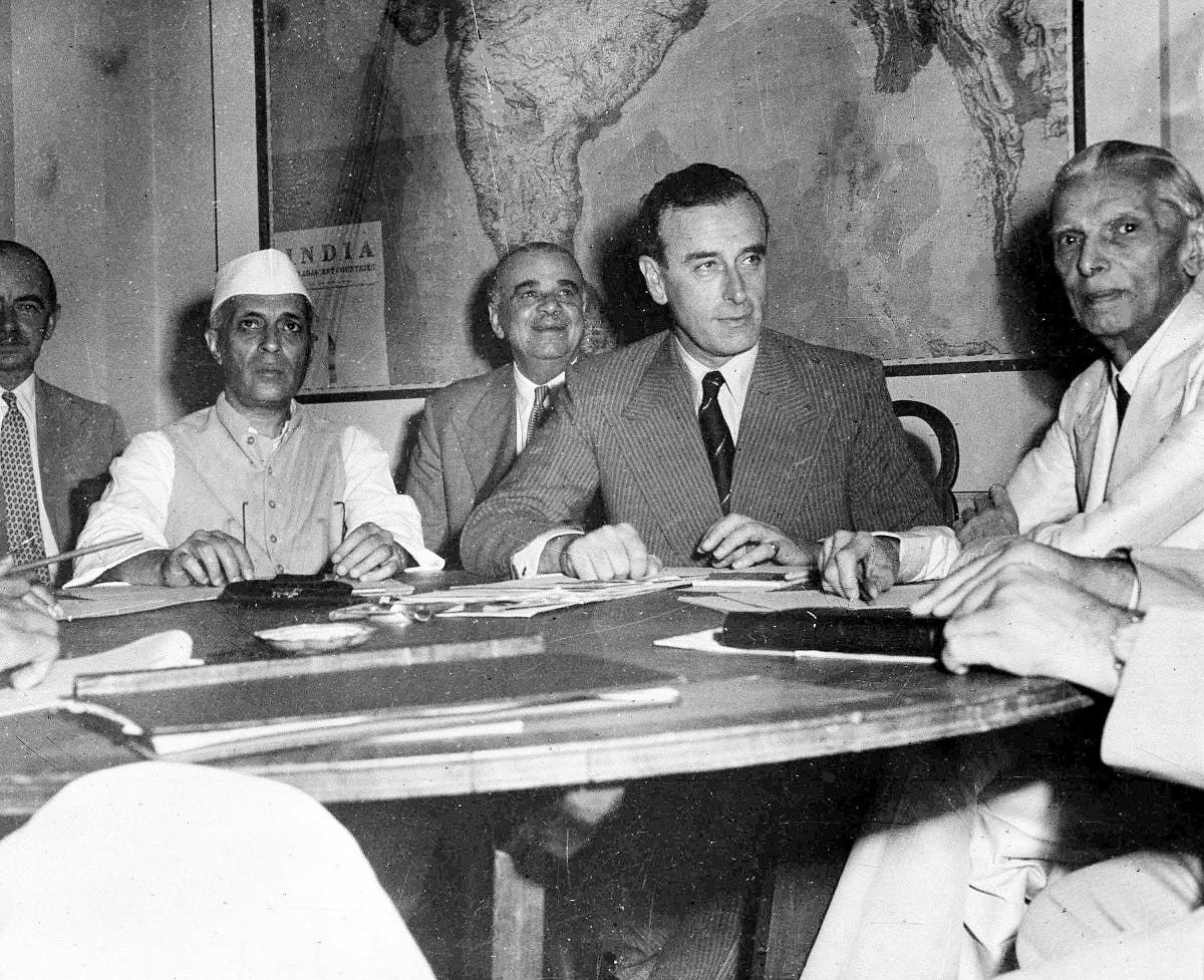 Lord Louis Mountbatten, Viceroy of India, met with seven Indian leaders in New Delhi, India, on June 2, 1947, to discuss the British Government's plan for the Seperation of India. Muhammad Ali Jinnah is on the right. (AP)
