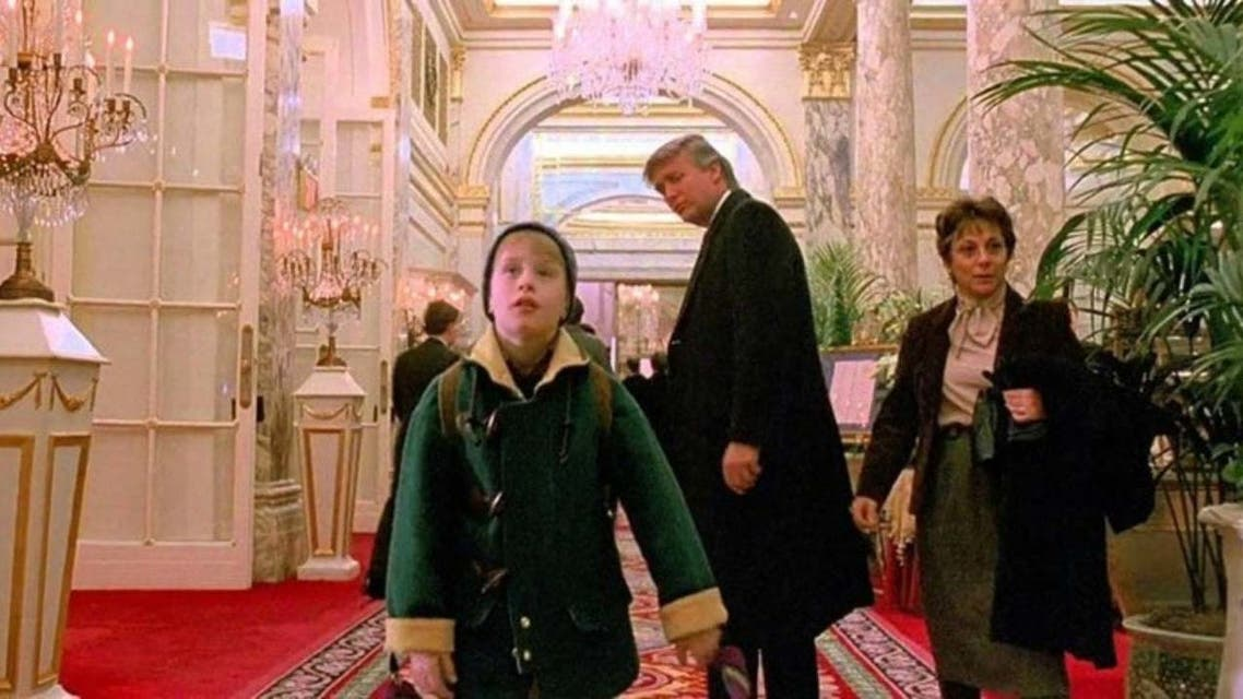 دونالد ترمب في لقطة من الفيلم