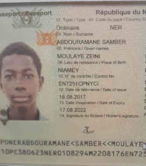 His passport