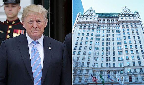 الرئيس دونالد ترمب وفندق بلازا الذي يملكه في نيويورك