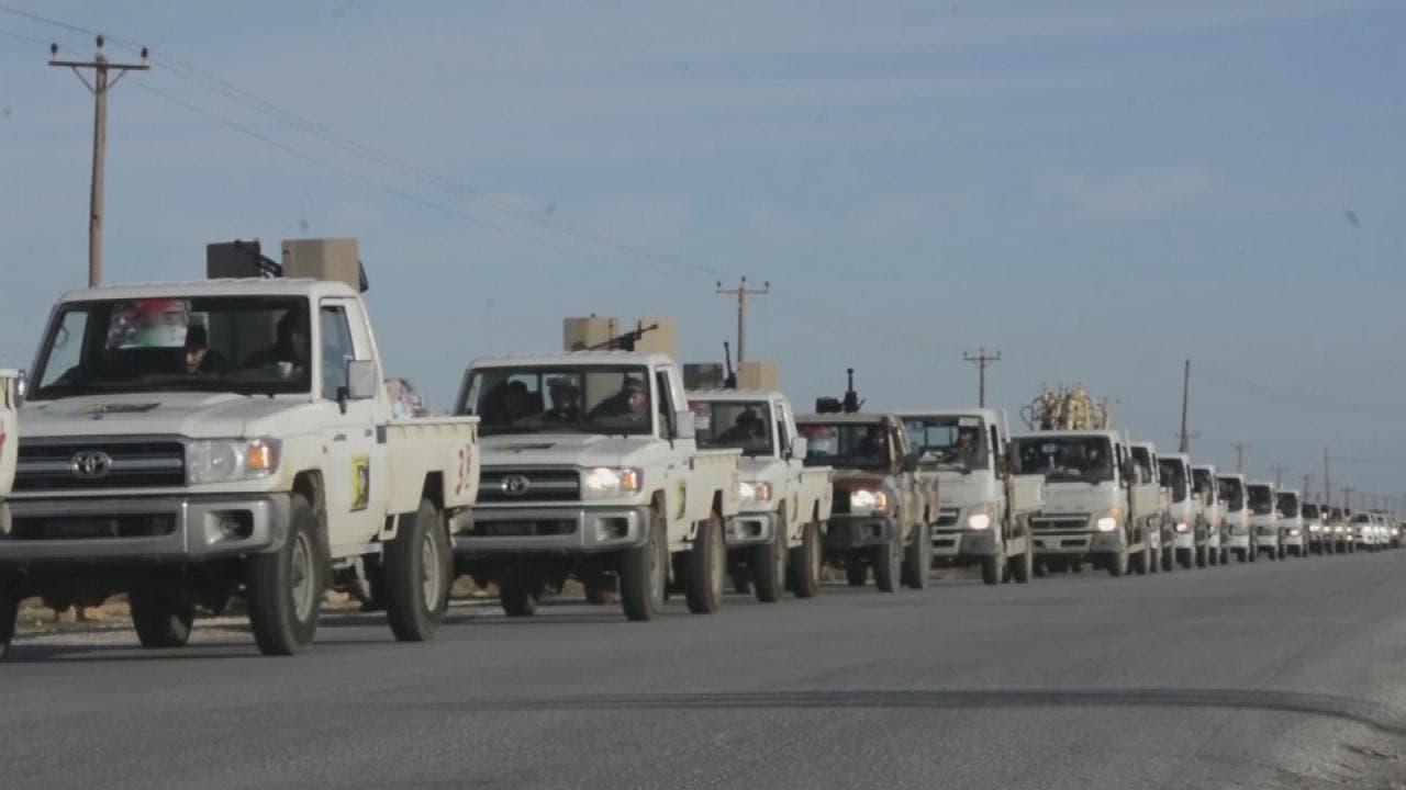 الجيش الليبي في حي الزهور بطرابلس