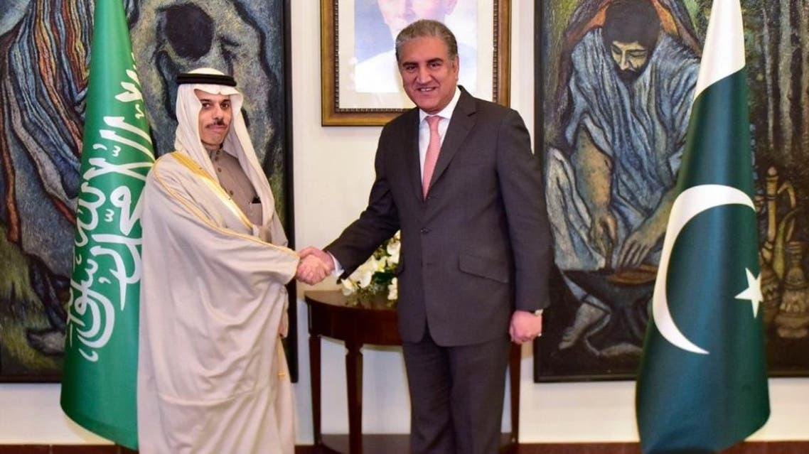 Saudi Arabia's Foreign Minister Prince Faisal bin Farhan al-Saud photographed with Pakistani Foreign Minister Shah Mahmood Qureshi in Islamabad, Pakistan on Dec. 26, 2019. (Photo: Pakistan Foreign Office)