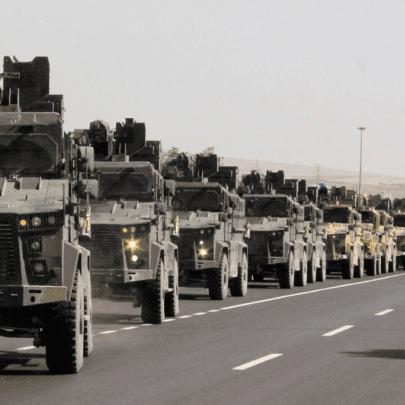 85 آلية تركية جديدة تدخل ريف حلب بسوريا