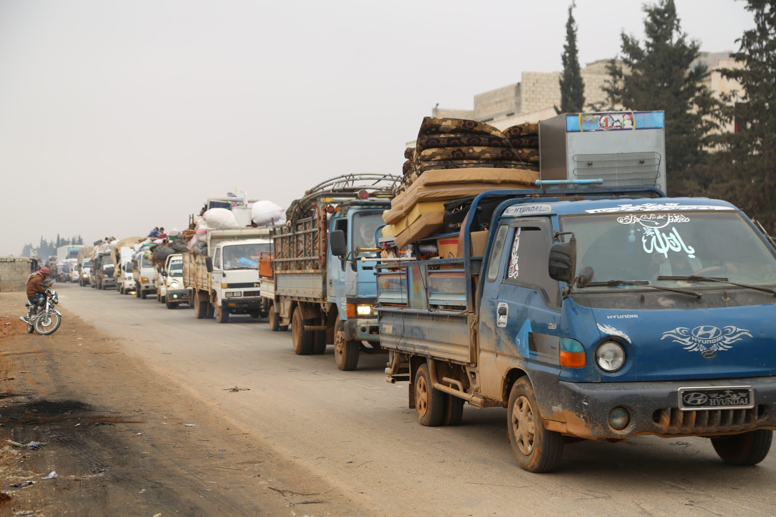 نازحون من إدلب - رويترز
