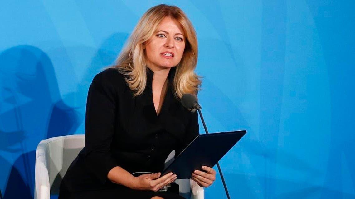 Slovakia's President Zuzana Caputova. (AP)
