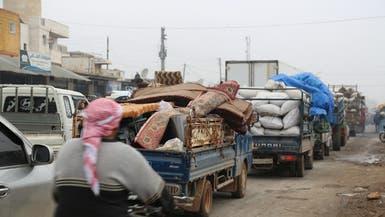 أكثر من 235 ألف نازح فروا من قصف النظام في إدلب