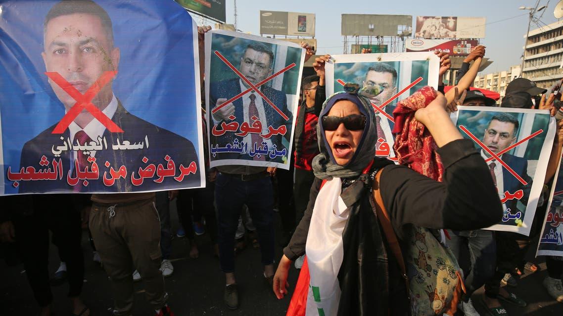 رفض مرشحي البناء لرئاسة الحكومة العراقية(فرانس برس)