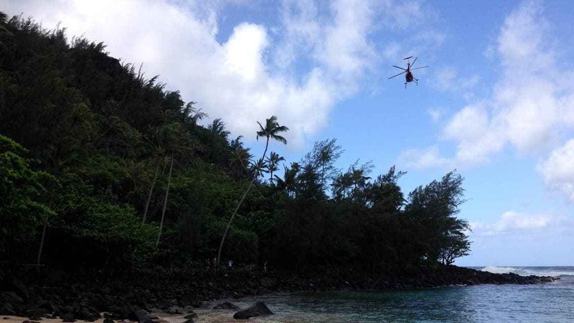The US Coast Guard was searching for a tour helicopter with seven people on board that went missing off the coast of Hawaii. (Photo: AP)