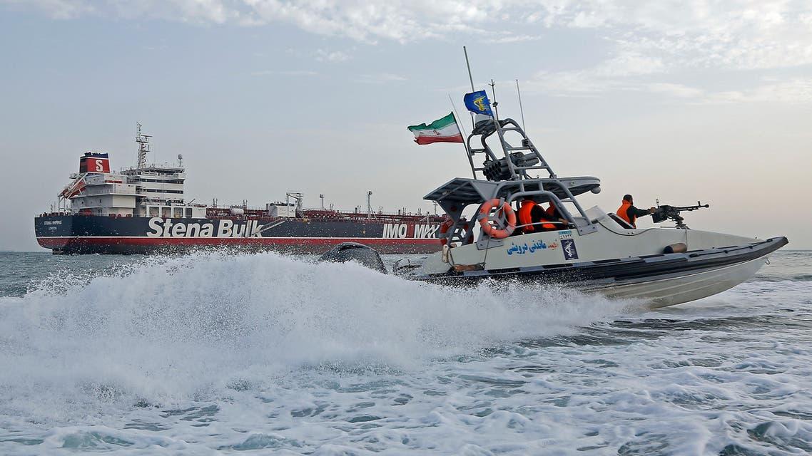 قارب للحرس الثوري الإيراني في هرمز (أرشيفية- فرانس برس)