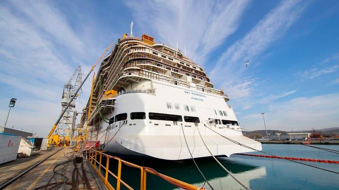 Princess Cruises showcases progress of three new Royal-class ships at the Fincantieri shipyard in Maonfalcone, Italy. (File photo: AP)