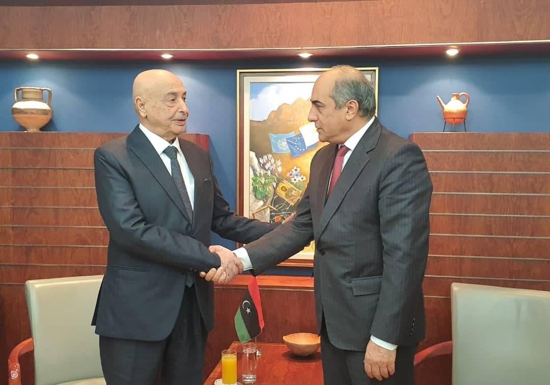 عقيلة صالح ورئيس برلمان قبرص