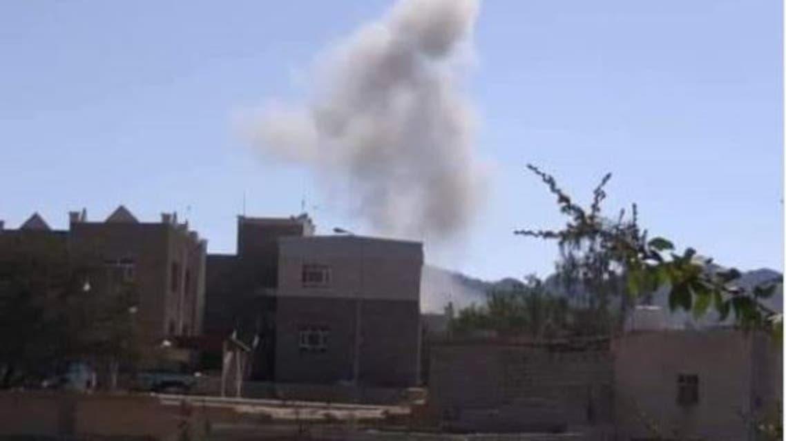 جانب من التفجير في الضالع