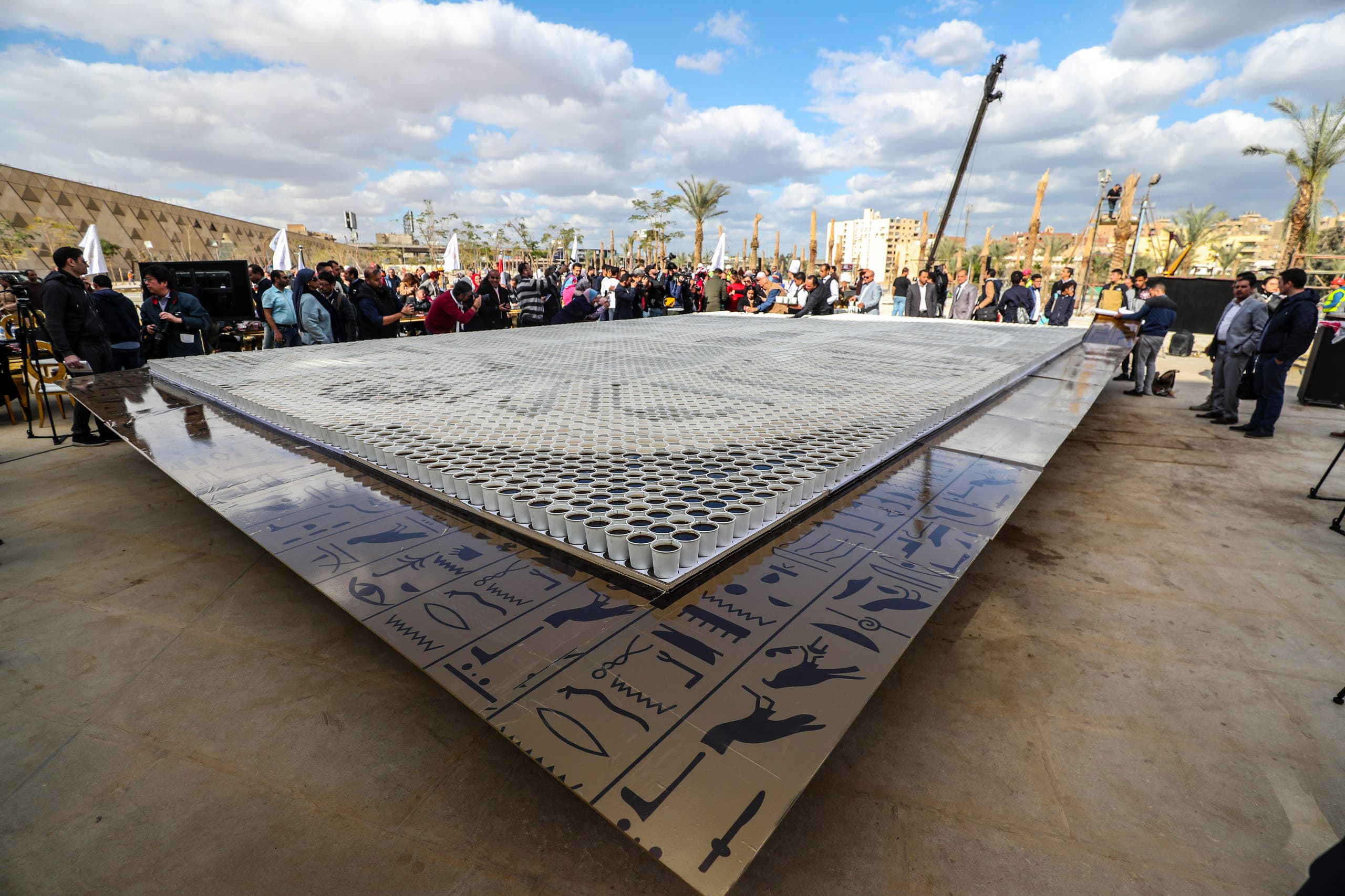 Guiness World record, Egypt at the Grand Egyptian Museum. (Photo: AFP)