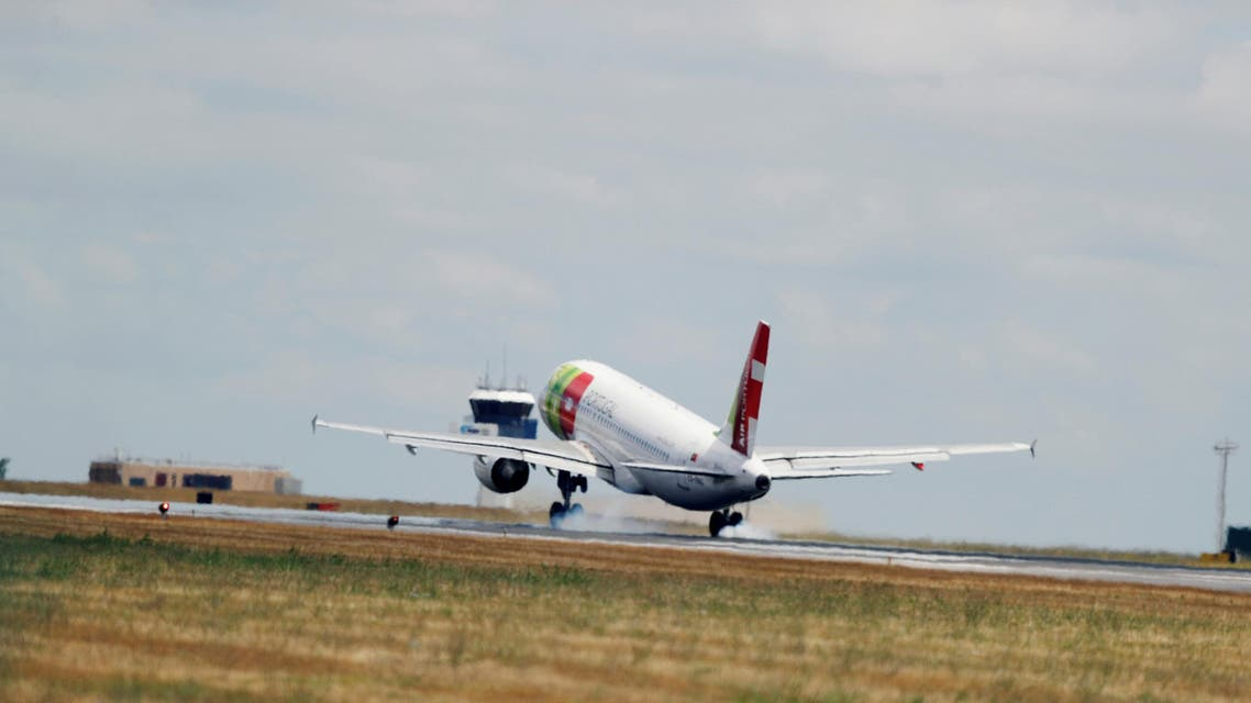 A TAP Air Portugal Airbus A320-200 plane lands at Lisbon's airport, Portugal (Reuters)