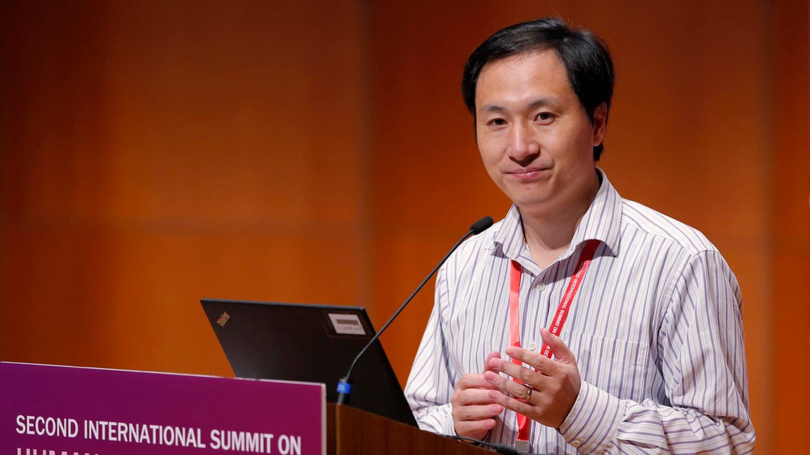 He Jiankui speaks during the Human Genome Editing Conference in Hong Kong. (AP)