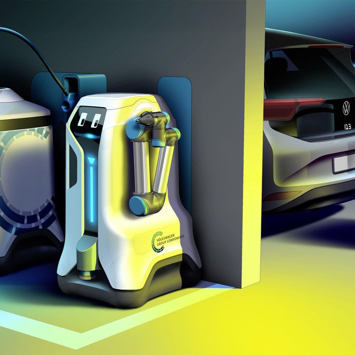"""""""فولكس فاغن"""" تطلق أسطولا من الآليين لشحن السيارات الكهربائية"""