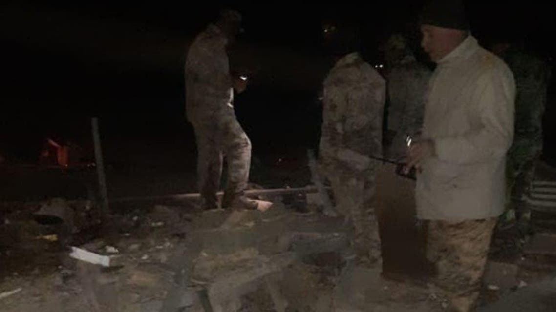 Preliminary picture from one of the targeted bombing sites. (Supplied)