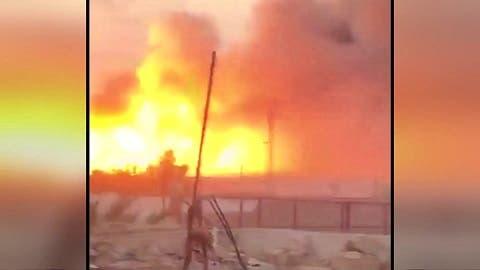 تصاویر اولیه بمباران مواضع شبه نظامیان وابسته به ایران در عراق