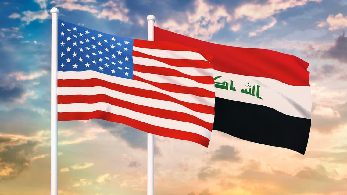 أعلام العراق أميركا بغداد واشنطن
